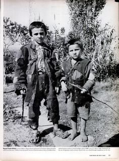 Pair of Ragged Greek Boys Made Homeless by the German Occupation During WWII Greece Photography, Greek History, Red Army, Papi, Magnum Photos, History Books, Ww2 History, Religion, World War Ii