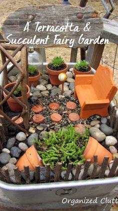 Kids Fairy Garden, Indoor Fairy Gardens, Fairy Garden Houses, Gnome Garden, Miniature Fairy Gardens, Fairy Pots, Fairy House Crafts, Mini Gardens, Fairy Crafts