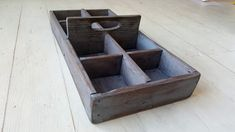 Vintage Wood Tool Caddy|Primitive Rustic Tote|large Eight Cubbies|Rustic Wood Organizer| Handmade Rustic Farmhouse Caddy|Fixer Upper Decor by Kksmercantile on Etsy