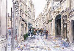 Paris Street in the Rain by Paula Nathan