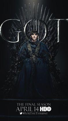GoT - The Iron Throne is no more.) Bran Stark sits on the Iron Throne in the poster for Game of Thrones Season 8 Jaime Lannister, Cersei Lannister, Daenerys Targaryen, Sansa Stark, Bran Stark, Eddard Stark, Ned Stark, Game Of Thrones Movie, Game Of Thrones Poster