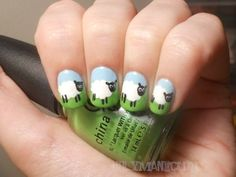Nail polish trends differ with seasons and as such spring nail art designs will always be different from the adorable nail designs of the autumn or the winter. These spring nail trends are basically easy nail ideas for spring. Funky Nails, Cute Nails, Pretty Nails, Garra, Tumblr Nail Art, Animal Nail Art, Easter Nail Art, Favim, Cool Nail Art