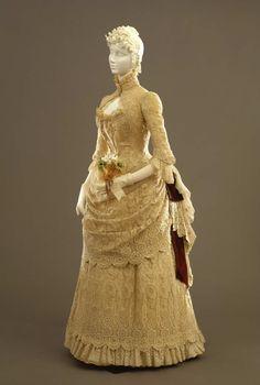 Fripperies and Fobs Dress ca. 1884  From the Galleria del Costume di Palazzo Pitti via Europeana Fashion