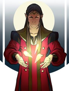 Feanor with Silmarili by http://gerwell.deviantart.com/ More: http://gerwell.tumblr.com/tagged/Tolkien