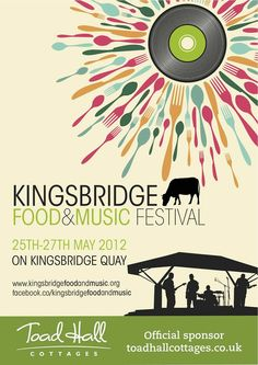 Poster design using music and food elements very well to get across what the event is all about.