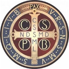 St Benedict medal is two-sided: one side displays St. Benedict while the other displays a simple cross with letters that symbolize ancient invocations against Satan and evil. The link goes into much more fascinating detail! Catholic Saints, Roman Catholic, Roman Church, San Juan Diego, Saint Benoit, Les Religions, Holy Cross, Religious Education, Blessed Mother