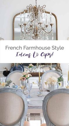 French Decor 38465 French farmhouse style tips for your home that are timeless and chic! Just add in a few key elements that we explain in this post for an elegant and rustic French appeal. Modern French Country, French Country Living Room, French Country Bedrooms, French Country Farmhouse, French Country Decorating, Farmhouse Style, French Style, French Rustic Decor, French Farmhouse Kitchens
