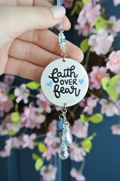 Excited to share this item from my shop: Religious Car Accessory Christian Car Charm Gift for Women Car Ornament Rear View Mirror Faith Over Fear Rear View Mirror Accessories, Car Accessories For Girls, Room Accessories, Car Rear View Mirror, Car Mirror, Car Ornaments, Faith Over Fear, Religious Gifts, Stickers