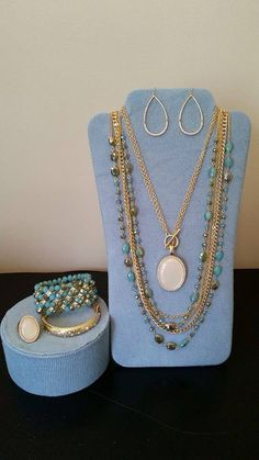 #premierdesigns jewelry!! Avery and Belize sets, Zoey earrings and the Marigold bracelet.