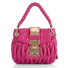 14279a0cea37 Cheap Replica Cheap replica miu miu Plum Leather Mateleasse Hobo Bag For  Sale