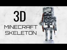 3D Perler/Artkal Bead Minecraft Skeleton (FULL TUTORIAL) - YouTube