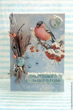 Новогодняя Открытка - Новый Год,Открытка ручной работы,открытка,новогодняя открытка