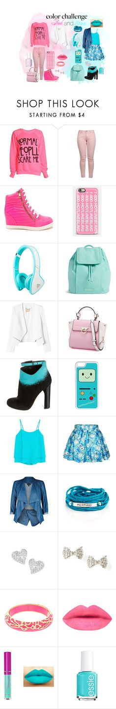 """""""Pink and blue"""" by micaj on Polyvore featuring Maison Scotch, Casetify, Vera Bradley, Rebecca Taylor, Nicholas Kirkwood, CellPowerCases, MANGO, City Chic, Blooming Lotus Jewelry and Vivienne Westwood"""