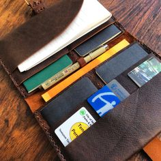 Family passport wallet leather travel wallet by LUSCIOUSLEATHERNYC