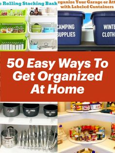 Getting Organized - 50 Ways To Get Organized at Home & STAY Organized Diy Storage, Organization Hacks, Organizing Tips, Getting Organized At Home, Messy House, Recipe For Mom, Feeling Overwhelmed, Cheap Home Decor, Declutter