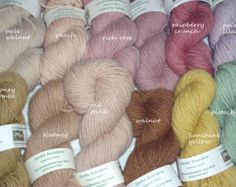 50g of organic wool yarn:  50g skein gently plant-dyed, or a 50g ball natural white, from our flock of Herefordshire Lleyn sheep