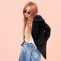 Black Pink Yes Please – BlackPink, the greatest Kpop girl group ever! Happy Birthday Rose, Birthday Roses, Kai, Kim Jennie, Kpop Girl Groups, Kpop Girls, Cute Girl Drawing, Blackpink Photos, Blackpink Fashion