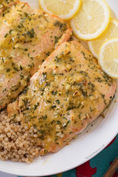 Baked Salmon with Honey Dijon and Garlic. Just enough sweet!