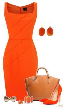 Designer Clothes, Shoes & Bags for Women Cute Work Outfits, Classy Outfits, Chic Outfits, Fashion Outfits, Business Casual Outfits, Business Fashion, Diva Fashion, Look Fashion, Orange Dress Outfits
