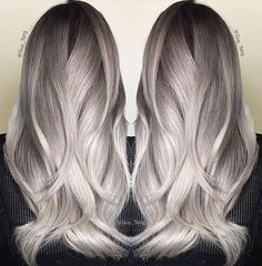 Fabulous silver creation by @guy_tang! On prelightened level 9 hair (level 10…