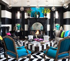 Peek Inside Kourtney Kardashian's Home - The Living Room from #InStyle