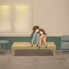 The smile has left your eyes DABIAN fanart Cute Couple Cartoon, Cute Couple Art, Anime Love Couple, Cute Anime Couples, Eyes Wallpaper, Love Wallpaper, Korean Art, Cute Korean, Cute Couple Wallpaper