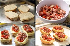 PANELATERAPIA - Blog de Culinária, Gastronomia e Receitas: Bruschettas de Calabresa