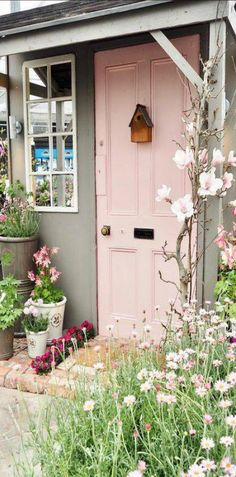 Lovely and Cute Garden Shed Design ideas for Backyard Part 28 ; garden shed ideas; garden shed organization; garden shed interiors; garden shed plans; garden shed diy; garden shed ideas exterior; garden shed colours; garden shed design Backyard Sheds, Garden Sheds, Outdoor Sheds, Shed Doors, She Sheds, Potting Sheds, Shed Design, Pink Houses, Dog Houses