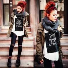 everyday outfits for moms,everyday outfits simple,everyday outfits casual,everyday outfits for women Grunge Outfits, Edgy Outfits, Grunge Fashion, Fall Outfits, Cute Outfits, Fashion Outfits, Womens Fashion, Fashion Tips, Alternative Mode