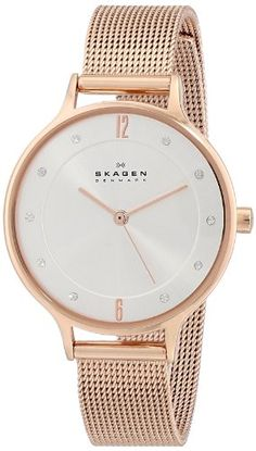 Skagen Women's SKW2151 Anita Quartz 3 Hand Stainless Steel Rose Gold Watch