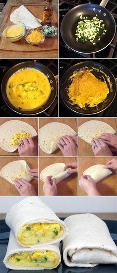 Low-Fat Breakfast Burrito - Love with recipe