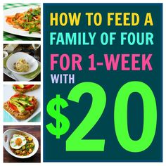 Having a tight budget week? Try our $20 Shopping List to feed your family of four when times get tight!