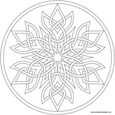Mandala coloring pages - Another Swirly Mandala to print and color – Mandala coloring pages Mandala Coloring Pages, Coloring Book Pages, Printable Coloring Pages, Coloring Sheets, Celtic Patterns, Celtic Designs, Knitting Patterns, Mandalas Painting, Celtic Art