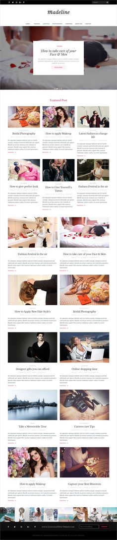 Madeline is an elegant and #feminine style responsive #WordPress #blog theme for fashion and lifestyle #bloggers website download now ➩ https://themeforest.net/item/madeline-fashion-blog-wordpress-theme/19482802?ref=Datasata