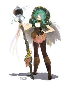 Magic Elf Lady by KassandraHeller.deviantart.com on @deviantART