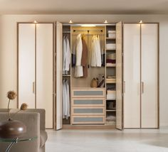 White Wardrobes with Sliding Door in Colorful Bedroom Design from ...
