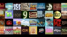 This video presents titles of animated feature films in order from 1937 to 2012