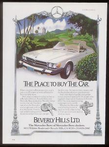 1979 450 SL 450SL White Car Beverly Hills Mercedes Benz Ad | eBay