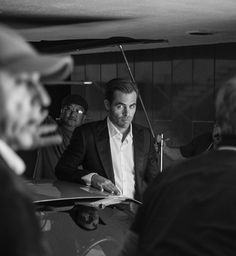Chris Pine, behinde the scene for Armani Code