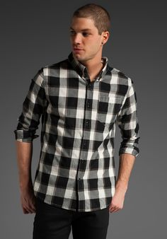 ORTHODOX Edward Woven in Black/Brown/White Plaid at Revolve Clothing - Free Shipping!
