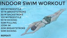 Dont let the cooler weather hold you back from getting in a sweat sesh! Take your workout indoors to the pool and get in a full-body workout thatll work every Lap Swimming, Swimming Tips, Swimming Workouts, Swimming Games, Cardio Training, Triathlon Training, Qigong, Cycling Workout, Bike Workouts