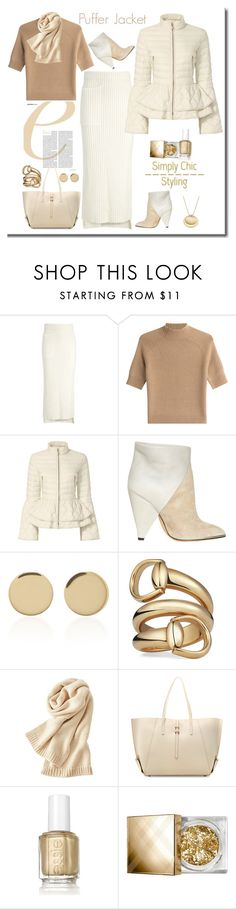 """""""Puffer Jacket"""" by terry-tlc ❤ liked on Polyvore featuring Joseph, Theory, Elizabeth Roberts, IRO, Magdalena Frackowiak, Gucci, Uniqlo, ZAC Zac Posen, Essie and Burberry"""