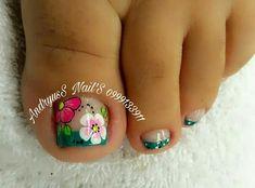 Toe Nail Art, Toe Nails, Mani Pedi, Manicure And Pedicure, Cute Pedicures, Nail Art Videos, Toe Nail Designs, Finger, Lily