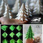 Хартиена елхичка с нагъване