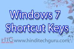 Windows 7 Shortcut Keys