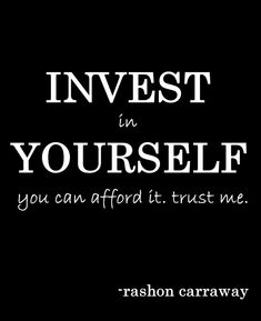 """Invest in yourself you can afford it. trust me."" #eventprofs #wordsofwisdom"