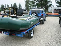 m&m custom raft trailers built in Stevensville, Montana (not far from Missoula). Approx drive from Livingston. Fly Fishing Boats, Fly Fishing Gear, Kayak Trailer, Trailer Build, Stevensville Montana, Enclosed Trailers, Livingston, Water Sports, Rafting
