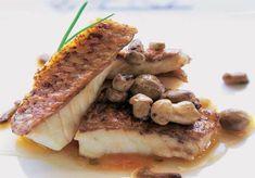 Salmonete del Cantábrico con 'perretxicos' #cuisine #recipes