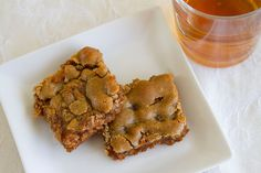 Butterbeer Blondies | Inspired by Harry Potter! I didn't make 'em but I ate 'em and MAN are they good!