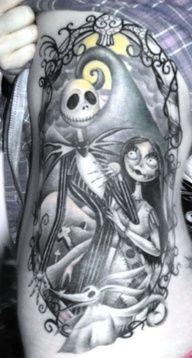 Nightmare Before Christmas tattoo my girls favoraite director I love ya hunni